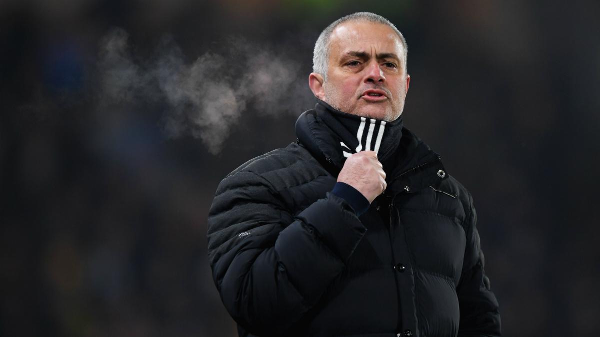 Mourinho, en un partido con el Manchester United. (Getty)