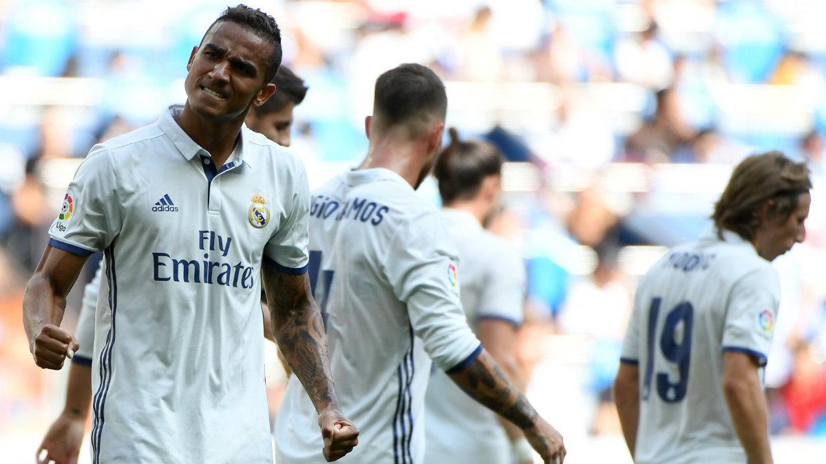 Danilo celebra un gol con el Real Madrid. (AFP)