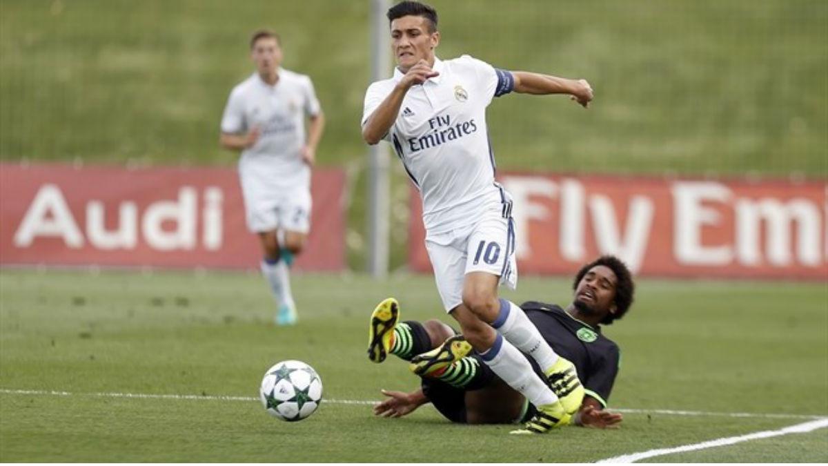Óscar Rodríguez en un partido de la UEFA Youth League. (UEFA)
