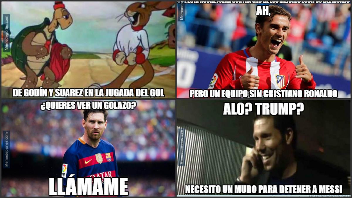 Los mejores 'memes' del Atlético-Barcelona.