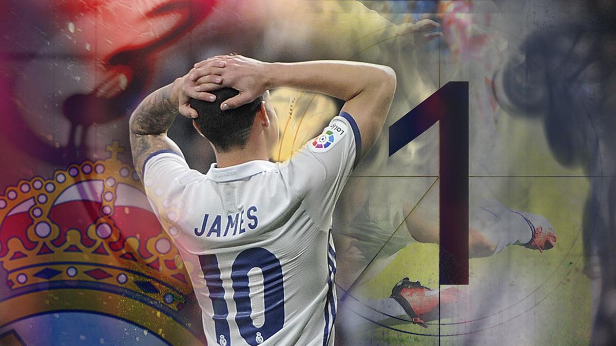 James Rodríguez tiene un futuro complicado en el Real Madrid.
