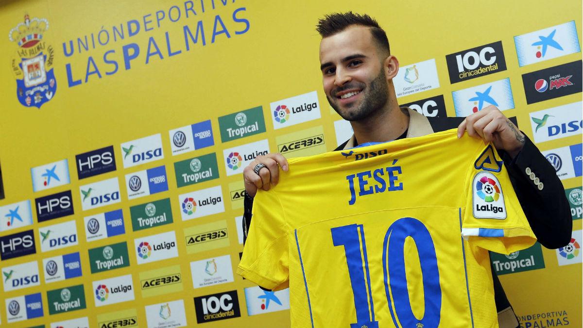 Jesé, durante su presentación en Las Palmas. (EFE)