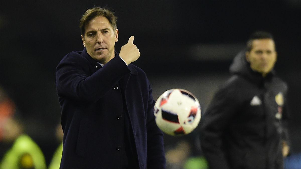 Berizzo, en un partido contra el Celta. (AFP)