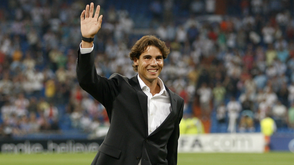 Rafa Nadal, en el Santiago Bernabéu. (Getty)