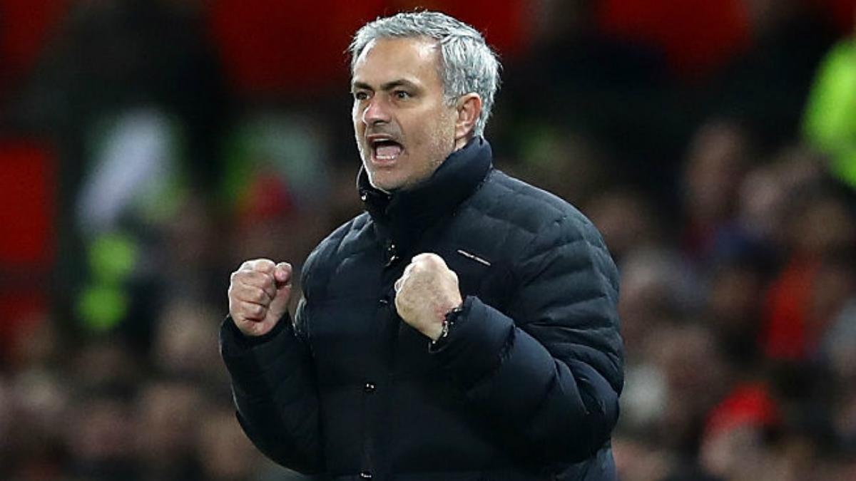 José Mourinho celebra uno de los goles de su equipo. (Getty Images)