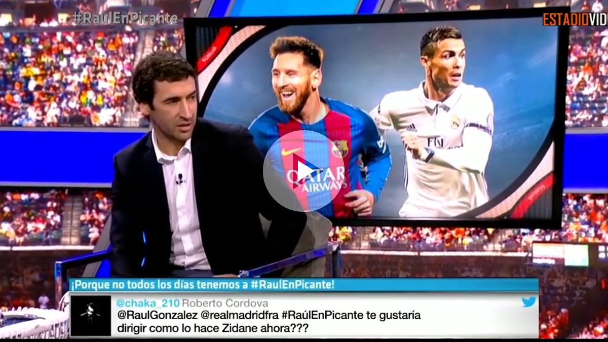 Raúl González habló de la rivalidad de Messi y Cristiano en México.