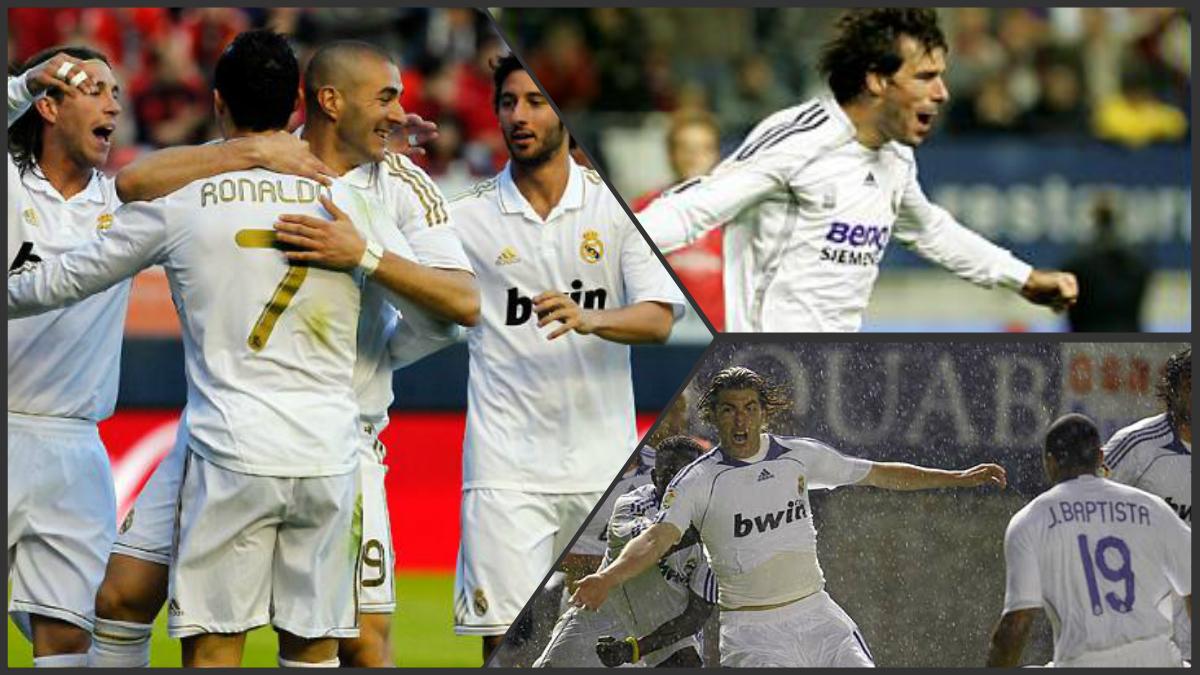 Tres momentos en los que el Real Madrid ganó en El Sadar y termino logrando el título.