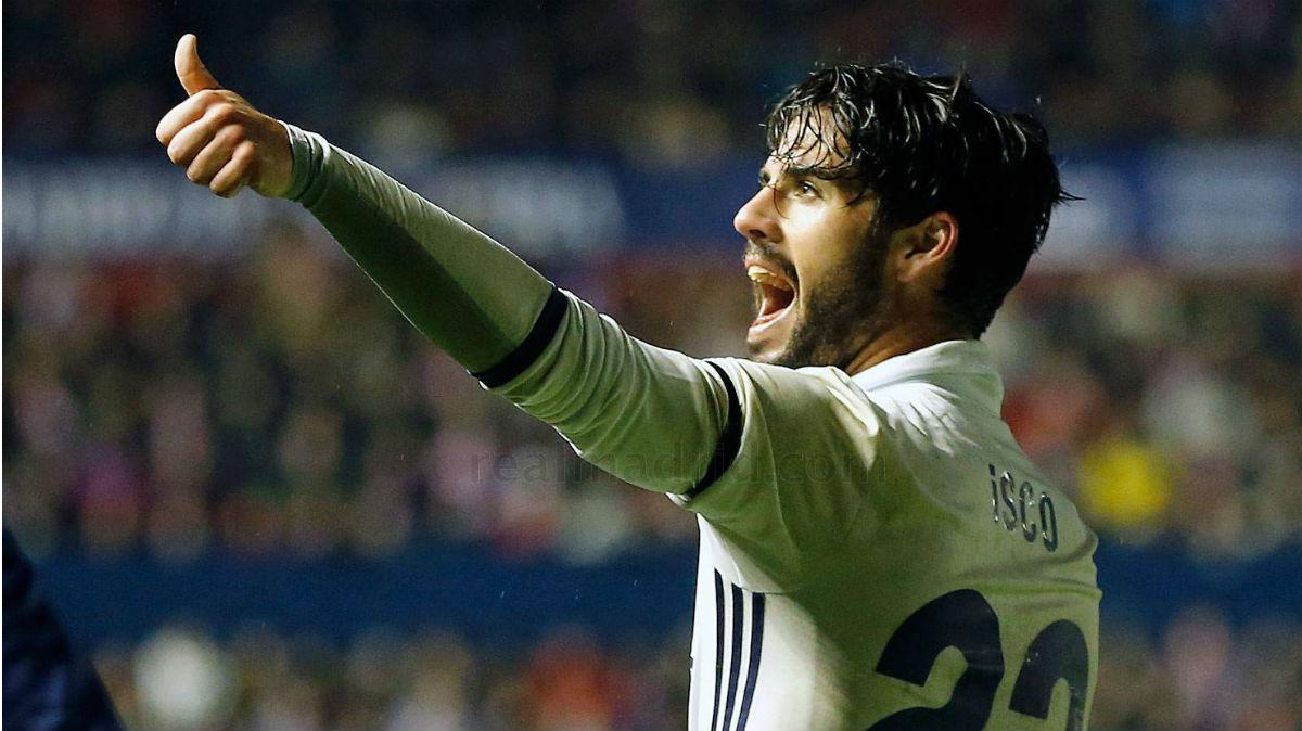 Isco celebra su gol ante Osasuna. (Realmadrid.com)