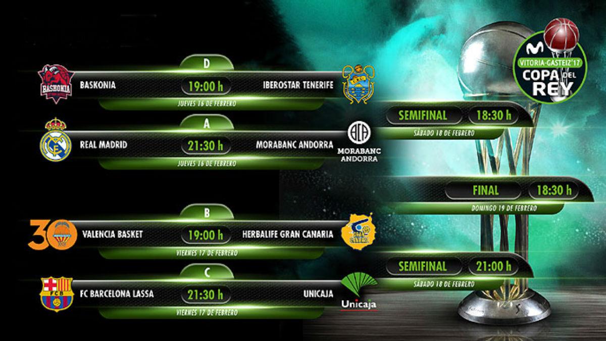Copa del Rey de baloncesto 2017: horarios, canal de televisión ...
