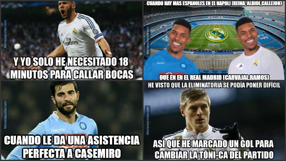 Los 'memes' del Real Madrid-Nápoles.