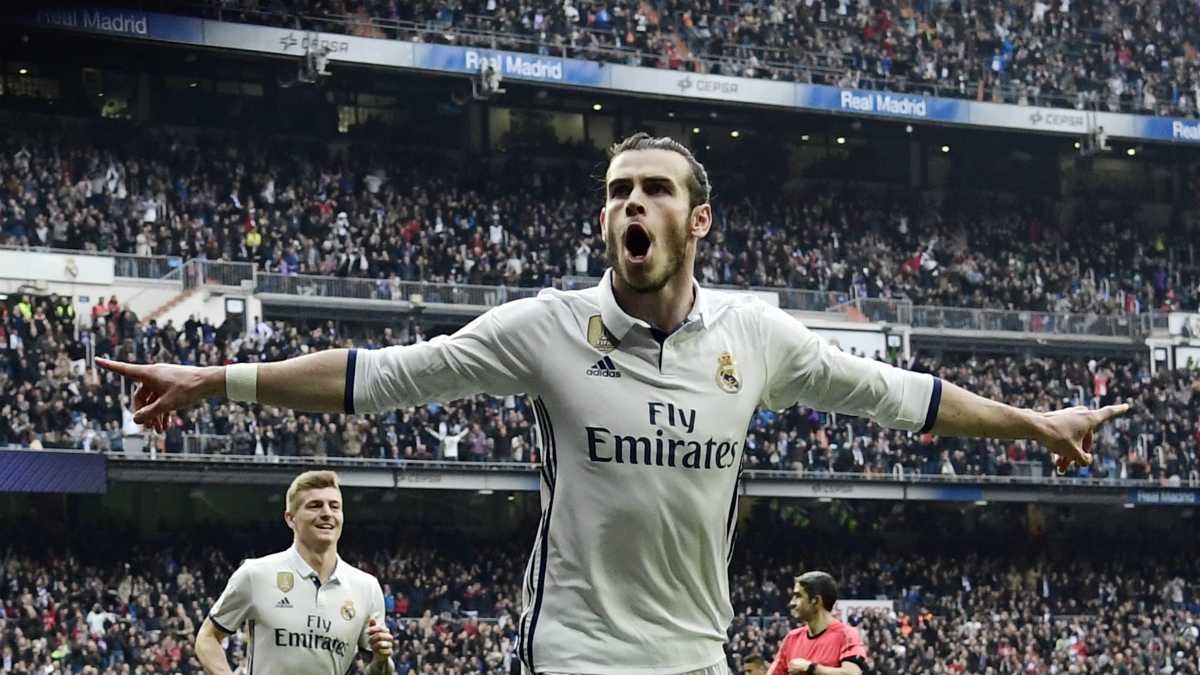 Bale celebra un gol en la pasada Liga. (AFP)