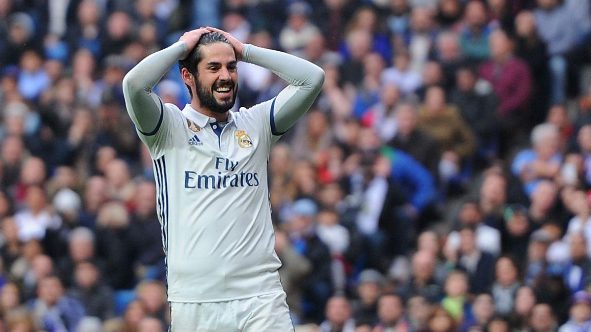 Isco se lamenta de una ocasión ante el Espanyol. (Getty)