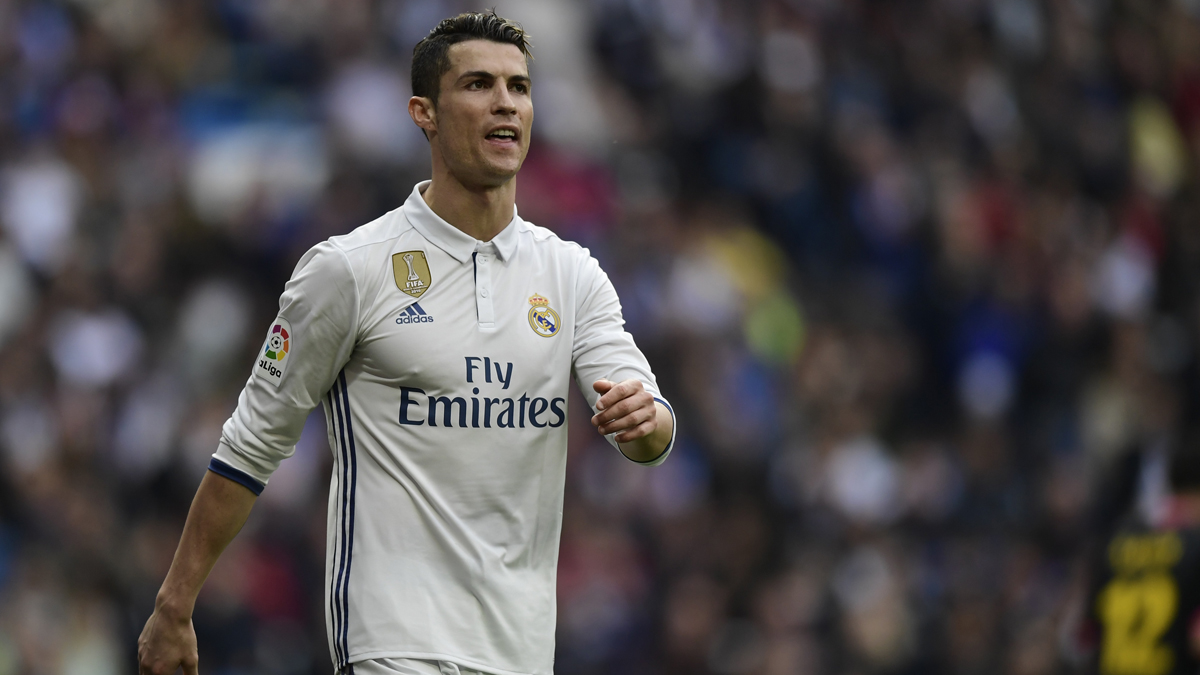 Cristiano Ronaldo, durante el partido entre el Real Madrid y el Espanyol.