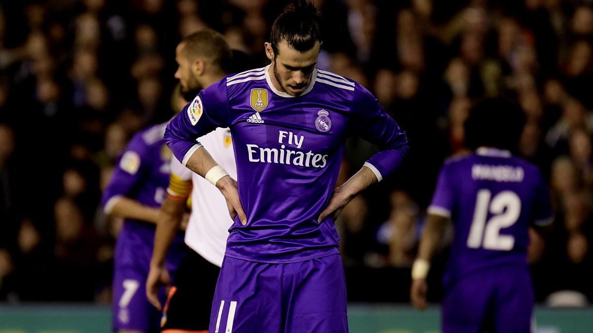 Bale durante el Valencia-Real Madrid. (AFP)