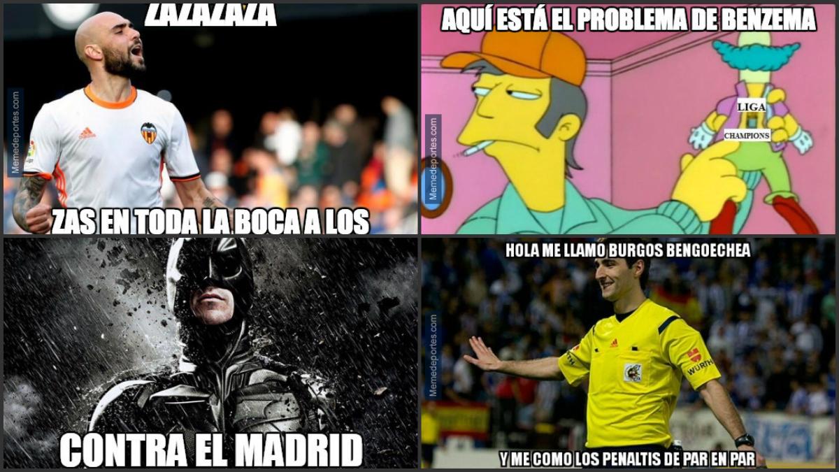 Los mejores 'memes' del Valencia-Real Madrid.