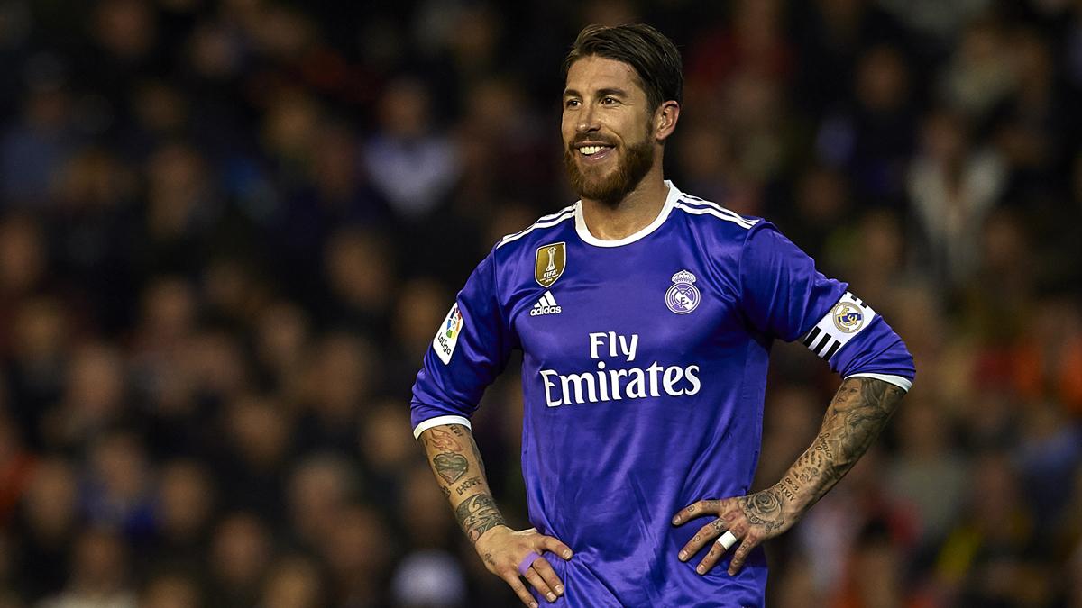 Sergio Ramos, durante el Valencia vs Real Madrid.