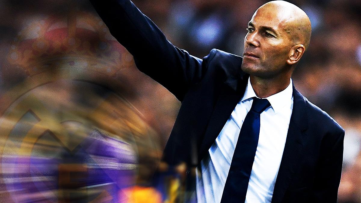 Zidane da instrucciones en Mestalla.