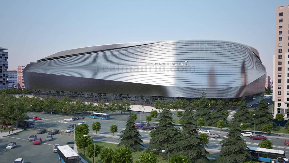 Una de las imágenes difundidas por el club del nuevo Santiago Bernabéu.