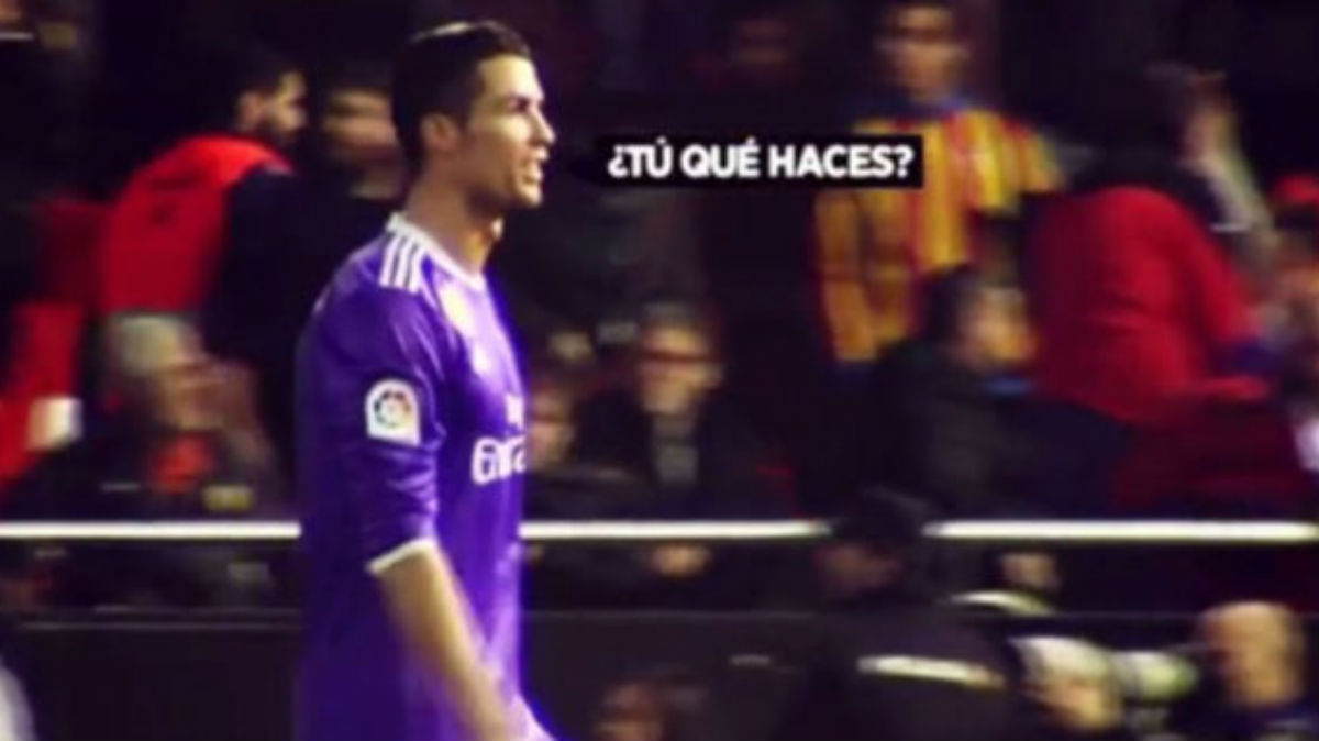 Cristiano Ronaldo tras el Valencia-Real Madrid.