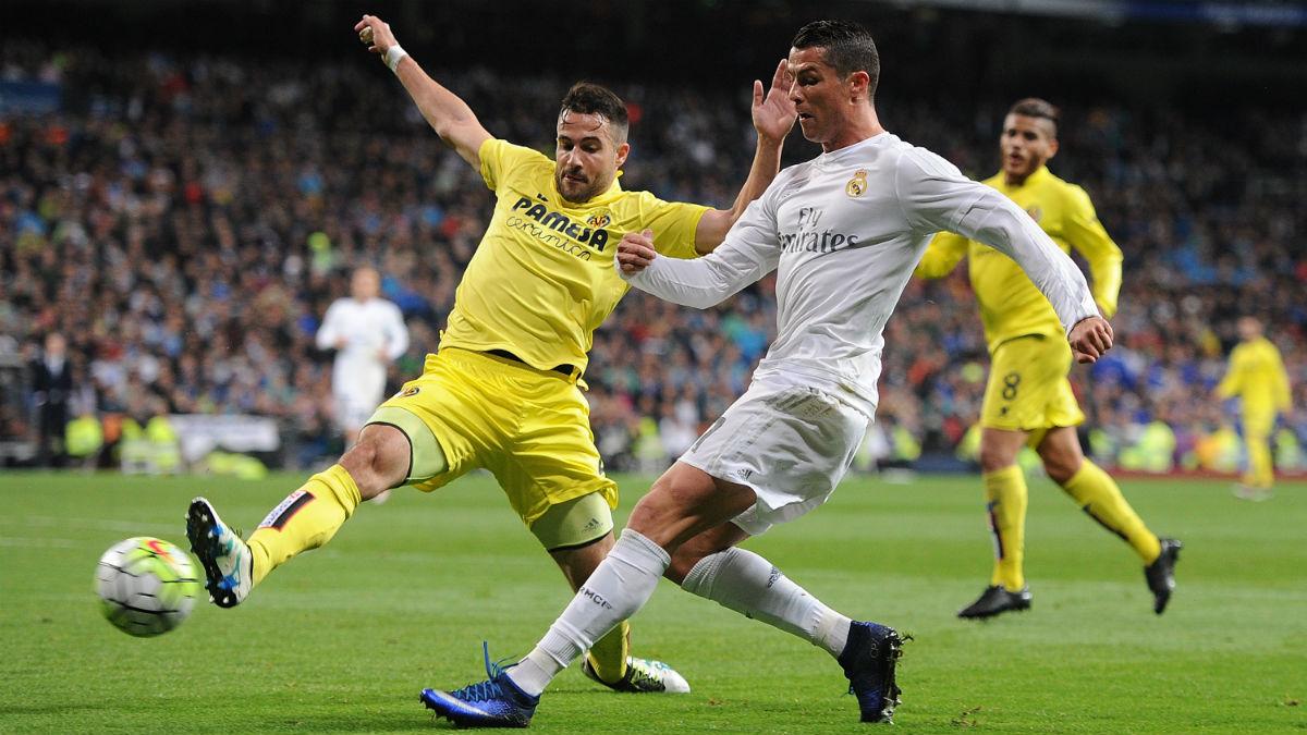 Cristiano Ronaldo, en un partido contra el Villarreal. (Getty)