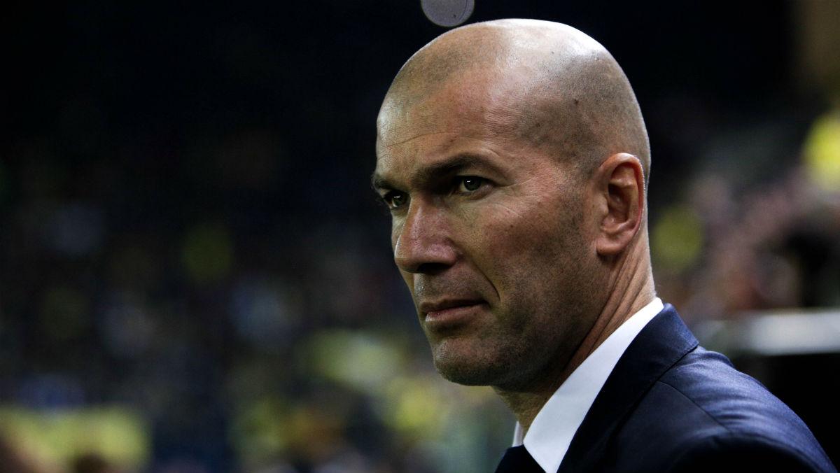 Zidane, en un partido con el Real Madrid. (AFP)