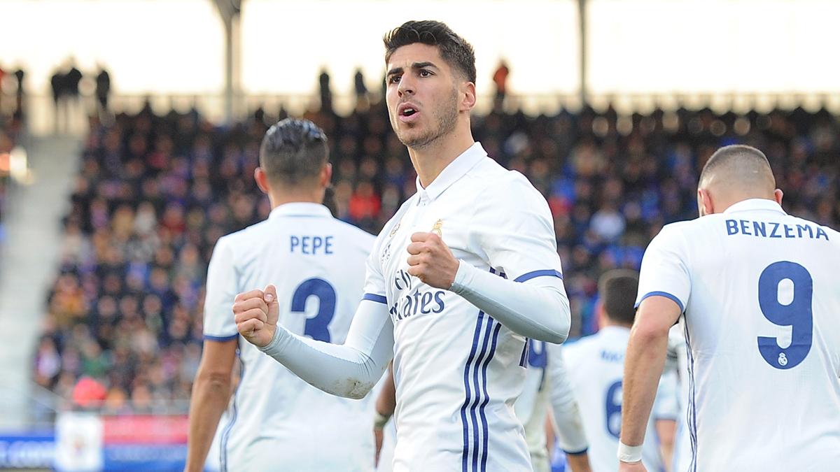 Asensio, celebrando su gol ante el Eibar.
