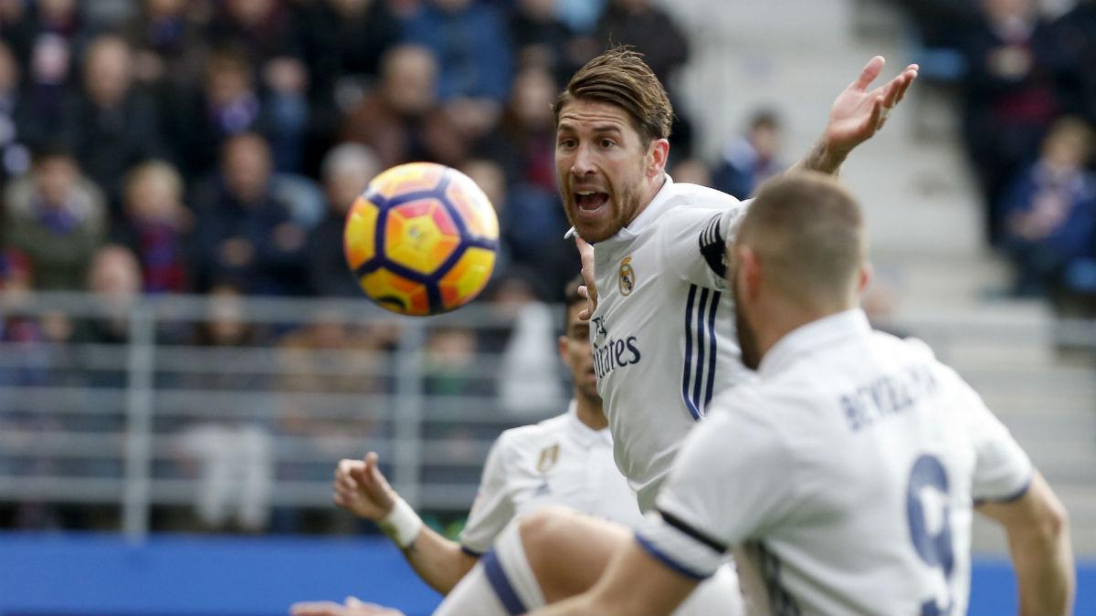 Sergio Ramos durante el Eibar-Real Madrid. (EFE)