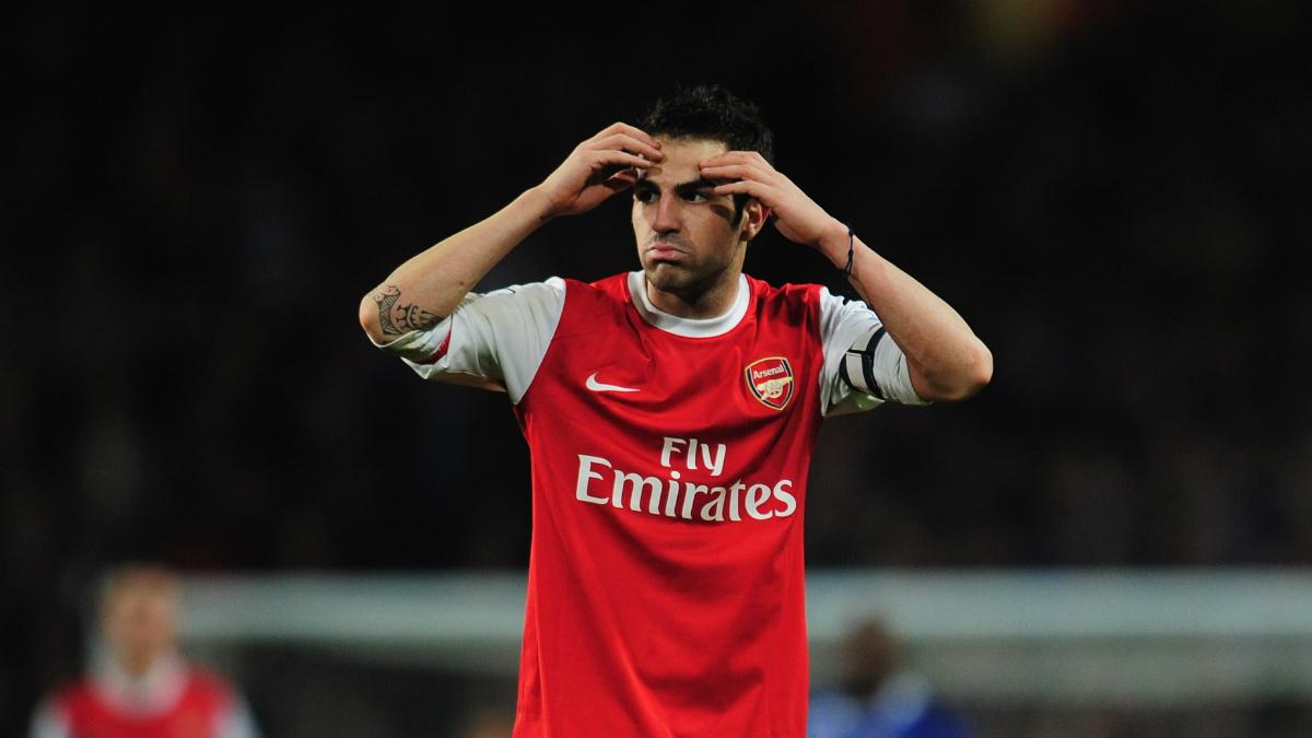 Cesc Fábregas durante su etapa en el Arsenal. (Getty)