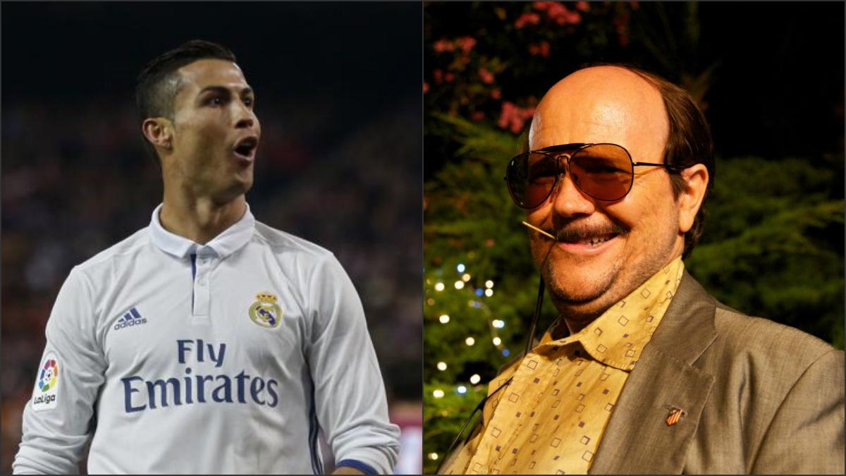 Cristiano Ronaldo y Santiago Segura imitando a José Luis Torrente.