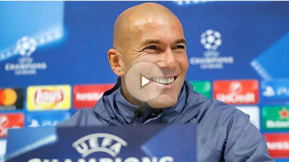 Zidane en rueda de prensa. (Realmadrid.com)