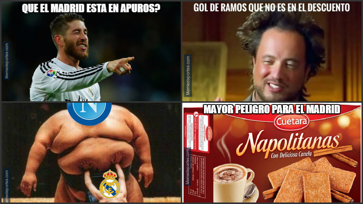Los mejores 'memes' del Nápoles-Real Madrid.