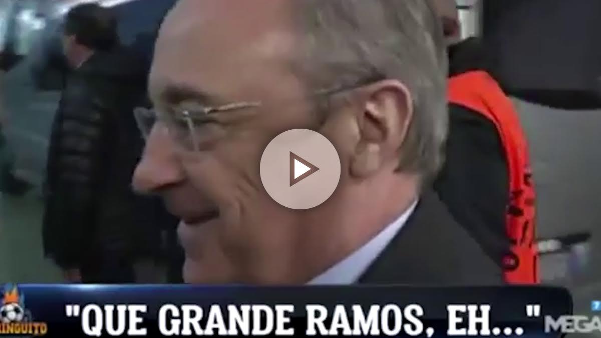 Florentino Pérez alaba a Ramos.
