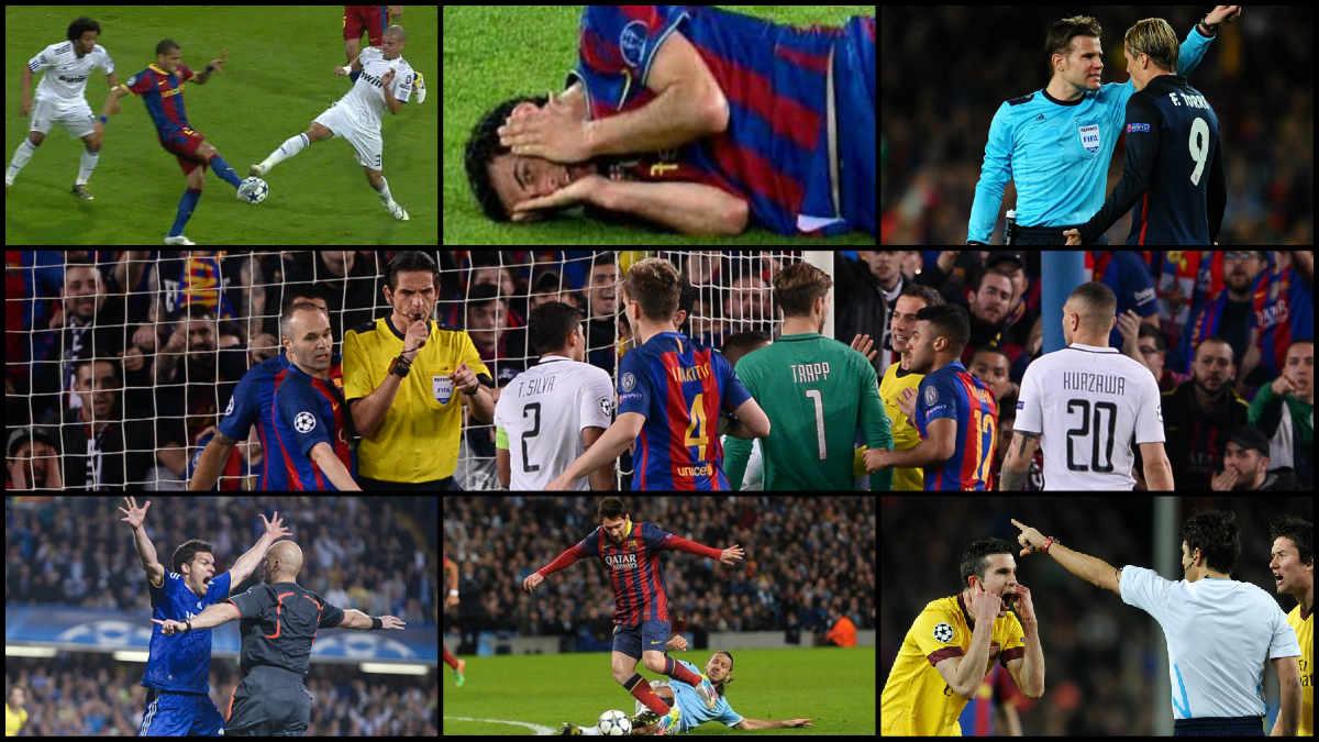 Once años de 'dopaje arbitral' del Barcelona en la Champions