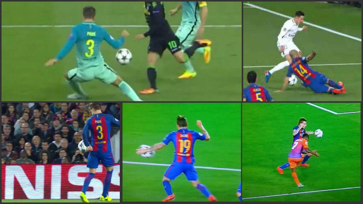 Estas son las cuatro manos del Barcelona en Champions esta temporada.