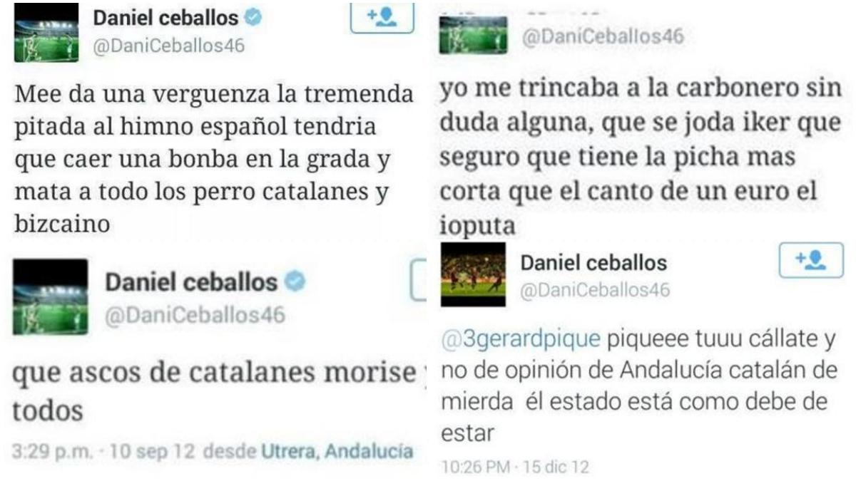 Los tuits polémicos de Dani Ceballos