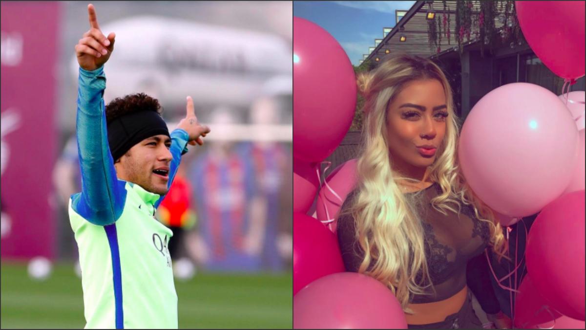 Neymar y Rafaella.