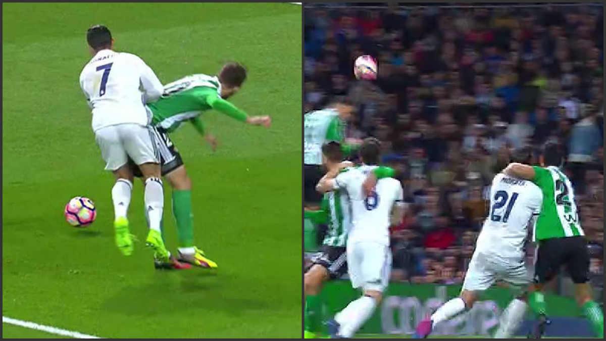 Mateu no señaló penalti ni sobre Cristiano ni sobre Morata.
