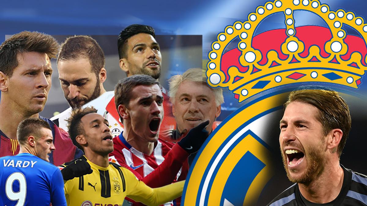 Los siete rivales que le pueden tocar al Real Madrid en cuartos de final de la Champions.