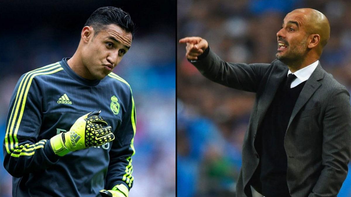 Keylor Navas y Guardiola.