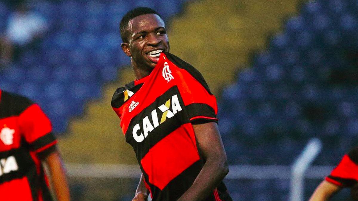 Vinicius Junior, en un partido con el Flamengo. (Twitter)