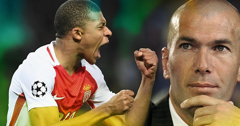 Zidane está loco por Mbappé