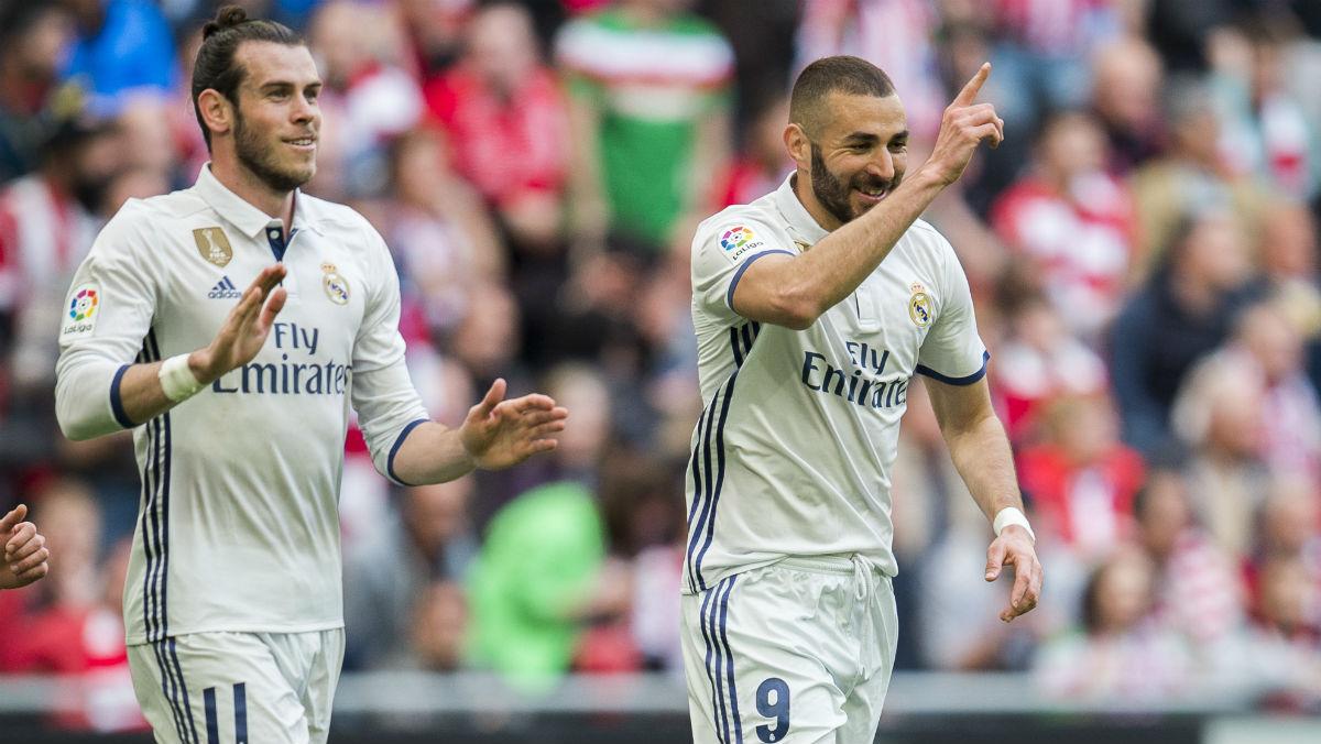 Benzema, el mejor del Real Madrid ante el Athletic. (Getty)