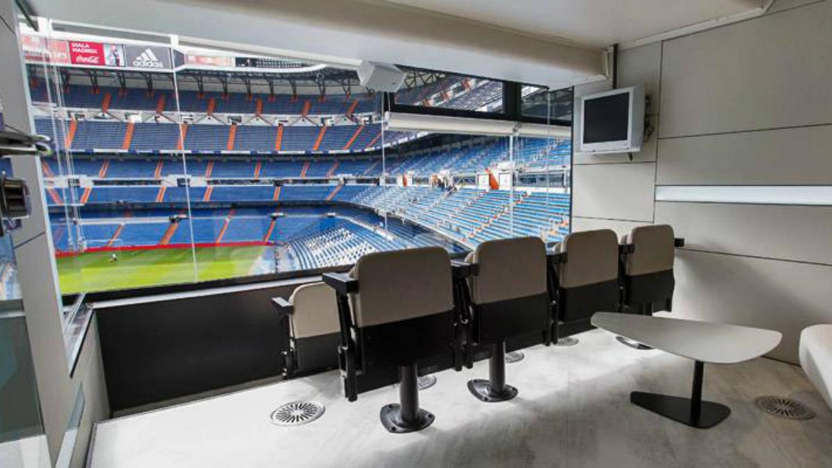 Uno de los palcos del Santiago Bernabéu. (realmadrid.com)