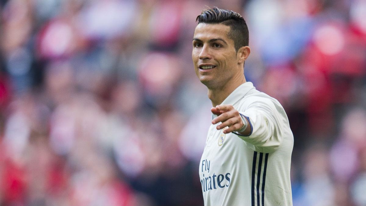 Cristiano Ronaldo, en un partido del Real Madrid esta temporada.