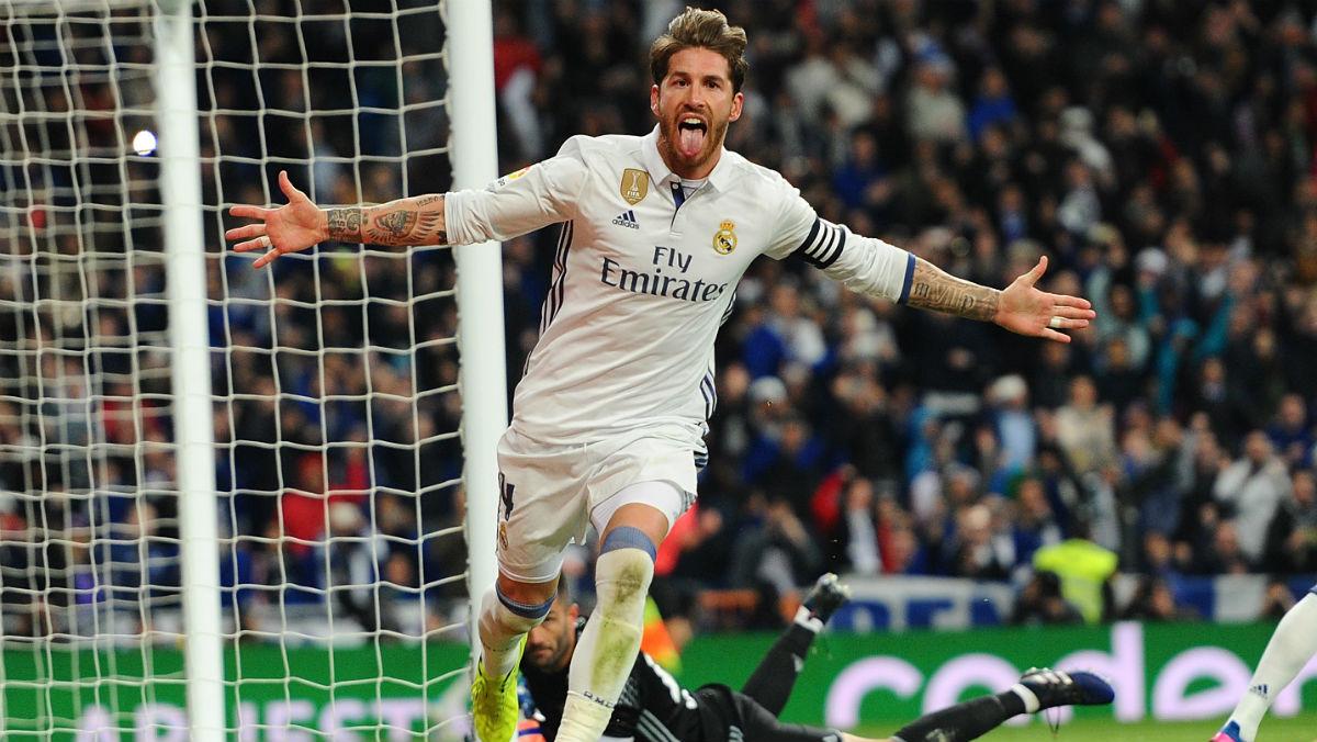 Sergio Ramos, un seguro a balón parado. (Getty)