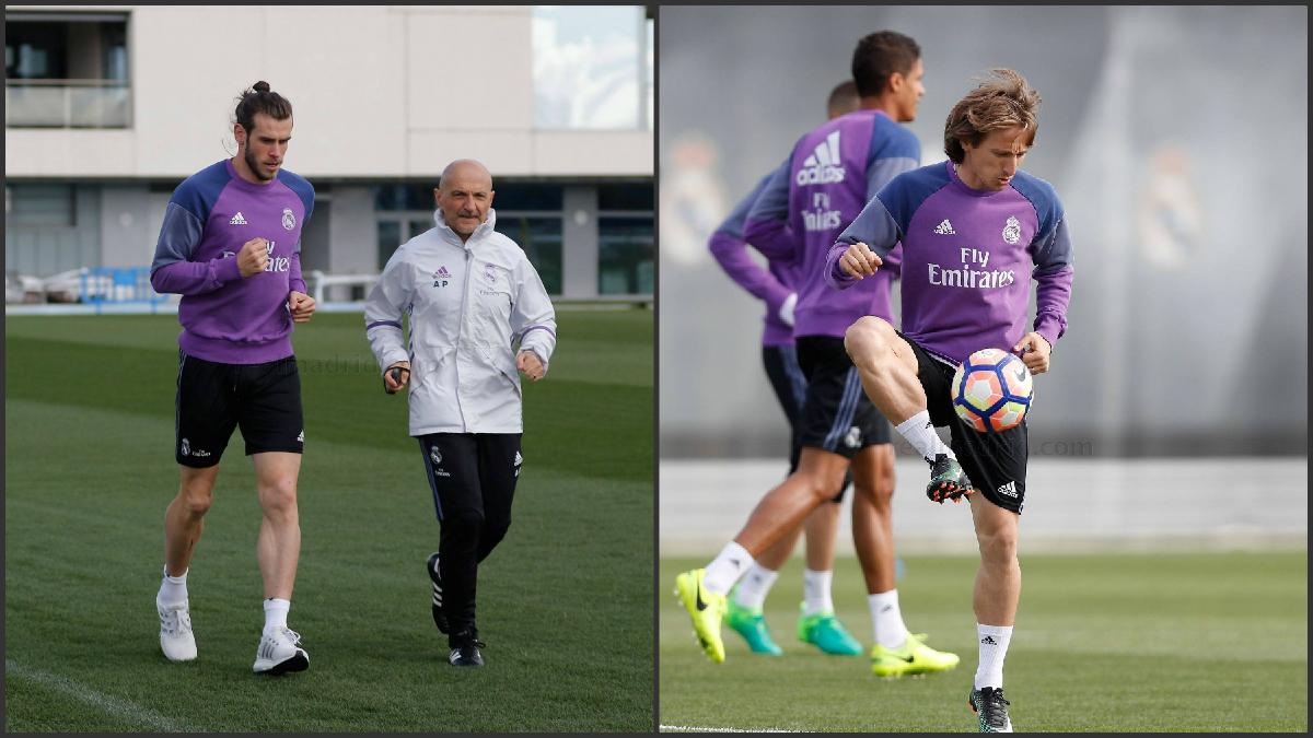 Bale y Modric ya trabajan en Valdebebas tras el parón por selecciones. (Realmadrid.com)