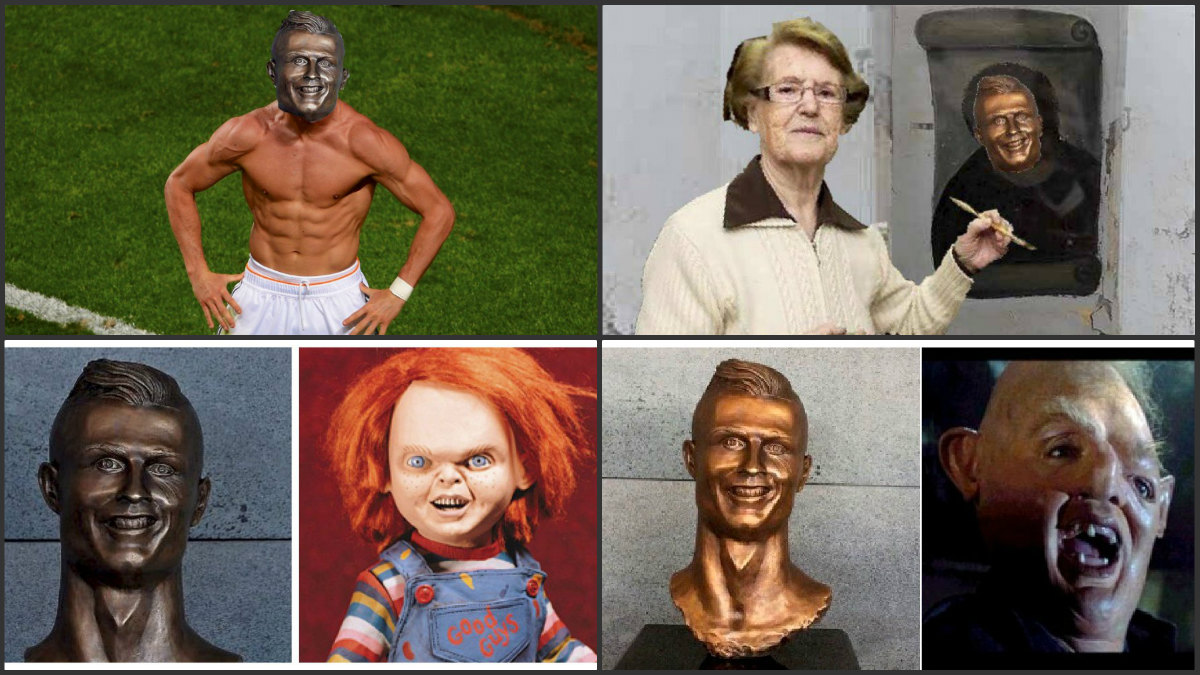 Los memes se dieron un auténtico festival con el busto de Cristiano.