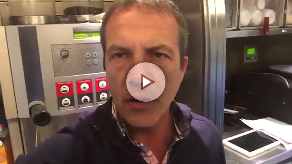 Cristóbal Soria hizo el ridículo en la cafetería del AVE.