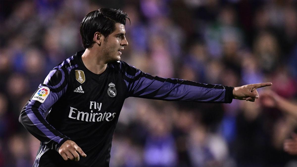 Morata celebra un gol ante el Leganés. (AFP)