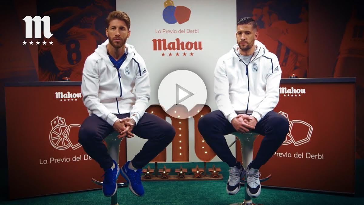 Los jugadores del Real Madrid analizan el derbi. (mahoutv)
